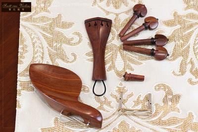 曹氏提琴高级酸枝木小提琴配件