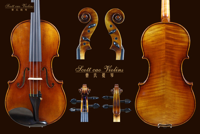 (已售)STV -750E Copy of David 1740 { QJ 20170718 } 演奏级小提琴+收藏证书+终生保养